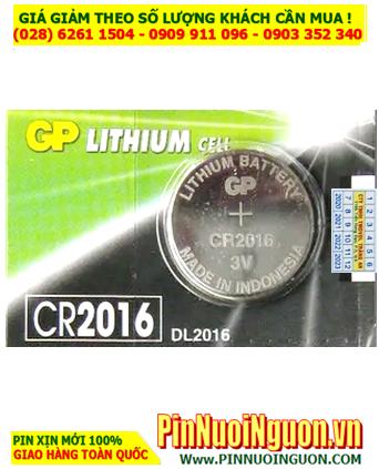 Pin CR2016 _Pin GP CR2016; Pin 3v lithium GP CR2016 chính hãng |TẠM HẾT HÀNG