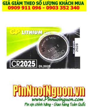Pin CR2025 _Pin GP CR2025; Pin 3v lithium GP CR2025 chính hãng  |TẠM HẾT HÀNG