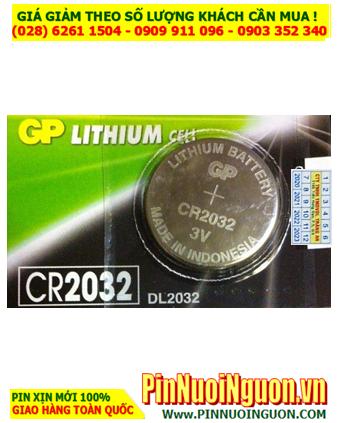 Pin CR2032 _Pin GP CR2032; Pin 3v lithium GP CR2032 chính hãng |CÒN HÀNG