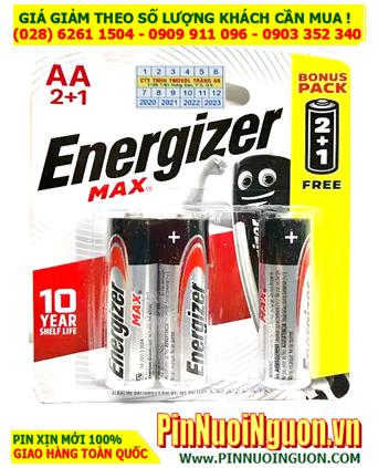 Pin đèn pin Energizer E91-BP3 (B2C1) Max Power Seal Technology Alkaline 1.5V chính hãng Made in Singapore