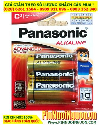 Pin Panasonic LR14T/2B; Pin trung C 1.5v Alkaline Panasonic LR14T/2B Made in Japan  - Vỉ 2viên