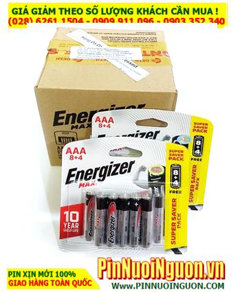 COMBO 1 HỘP 10Vỉ 12viên (120viên) Pin AAA 1.5v Alkaline Energizer E92-BP12 _Giá chỉ 930.000đ/HỘP 120viên