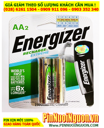 Energizer NH15E-BP2; Pin sạc AA 2300mAh 1.2v Energizer NH15E-BP2  _Made in Japan _Vỉ 2viên