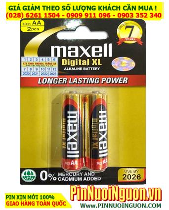 Maxell LR6(W)XL2B; Pin AA 1.5v Alkaline Maxell LR6(W)XL2B  _Made in Indonesia | Vỉ 2viên
