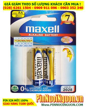 Pin Maxell LR6(GD)2B; Pin AA 1.5v Alkaline Maxell LR6(GD)2B  Made in Indonesia| Vỉ 2viên