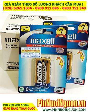 COMBO 01 HỘP (10 Vỉ =20viên) Pin AA 1.5v Alkaline Maxell LR6(GD)2B _Giá Chỉ 99.000đ/ Hộp 10 vỉ (20viên)