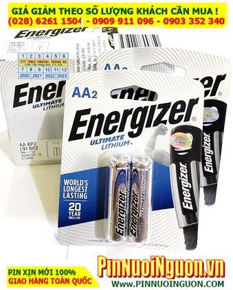 COMBO 1 HỘP 6vỉ 2viên (12viên) Pin Lithium AA 1.5v Energizer L91-BP2 _Giá chỉ 414.000đ/HỘP