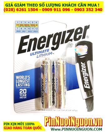 Pin chuột vi tính không dây _Pin AAA 1.5v Lithium Energizer L92-BP2 _Made in Singapore (Vỉ 2viên)