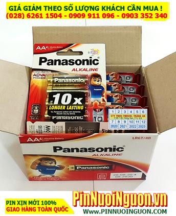 COMBO 1HỘP 12vỉ (48viên) Pin Alkaline AA 1.5v Panasonic LR6T/4B _Thai Lan _Giá chỉ 444.000vnd/HỘP 48viên