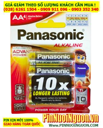 Panasonic LR6T/4B; Pin AA 1.5v Alkaline Panasonic LR6T/4B Made in Thailand | Vỉ 4viên