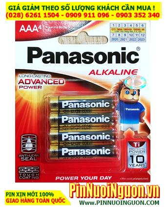 Pin Panasonic LR03T/4B; Pin AAA 1.5v Alkaline Panasonic LR03T/4B Made in Thailand - Vỉ 4viên