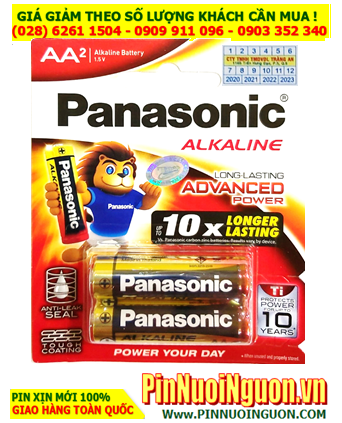 Panasonic LR6T/2B; Pin AA 1.5v Alkaline Panasonic LR6T/2B Advanced Power _Made in Thailand | Vỉ 2viên