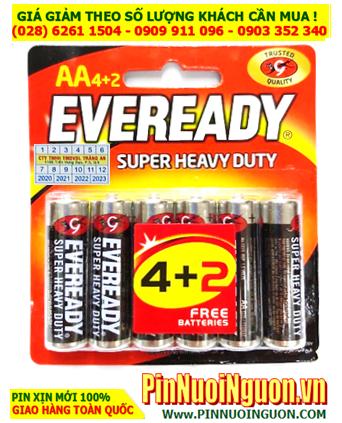 Eveready 1215-BP6; Pin AA 1.5v Eveready 1215-BP6 Heavy Duty _Made in Indonesia | Vỉ 6viên