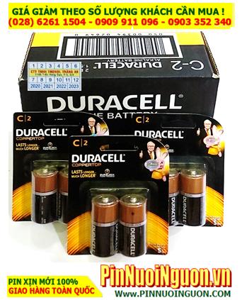 COMBO 1 HỘP 12vỉ (24viên) Pin trung C 1.5v Alkaline Duracell MN1400 LR14 C2 _Giá chỉ 552.000đ/HỘP 24viên