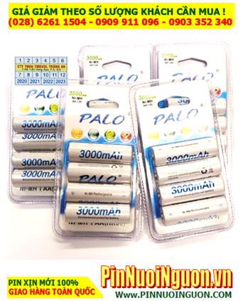Pin sạc AA 1.2v 3000mAh _Pin sạc PALO AA3000mAh NiMh 1.2v chính hãng _Vỉ 4 viên_CÒN HÀNG