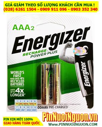 Energizer NH12ERP2; Pin sạc AAA 1.2v Energizer NH12ERP2 AAA800mAh _Made in Japan _Vỉ 2viên