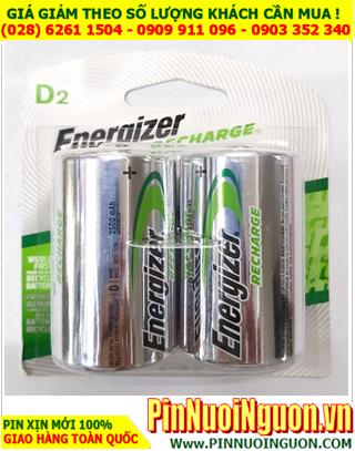 Energizer NH-50BP2; Pin sạc D 1.2v Energizer NH-50BP2 HR20 (D2500mAh_ _Liên doanh China _Vỉ 2viên