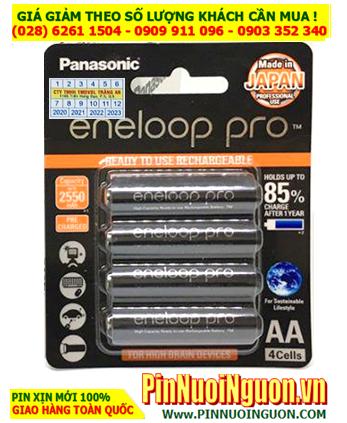 Eneloop BK-3HCCE/4B; Pin sạc AA 1.2v Panasonic Eneloop Pro BK-3HCCE/4B (AA2500mAh)_Made in Japan_Vỉ 4viên (Mẫu mới)