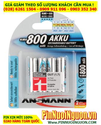 Ansman HR03 AAA800mAh; Pin sạc AAA 1.2v Ansman AAA800mAh-BL4 5030982  (Loại Vỉ 4viên)