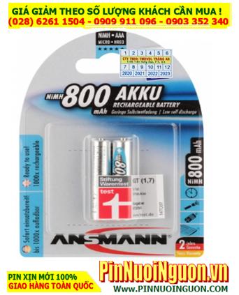 Ansman HR03 AAA800mAh; Pin sạc AAA 1.2v Ansman AAA800mAh-BL2 5030982  (Loại Vỉ 2viên)